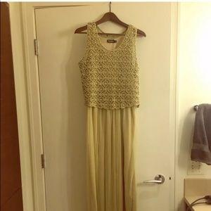 Anthropologie Beaded Arabella Maxi dress size M